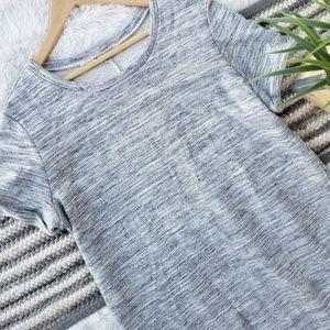 Heathered Grey Midi Tshirt Dress
